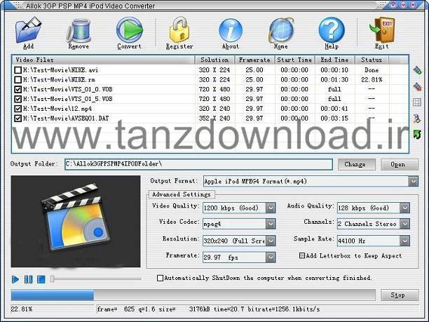 allok 3gp psp mp4 ipod video converter 6.2.0603